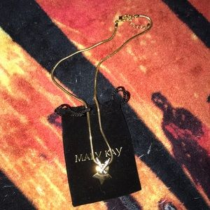 Mary Kay prize star ⭐️ necklace gold w rope chain